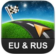 Application GPS Sygic Europe et Russie sur iOS