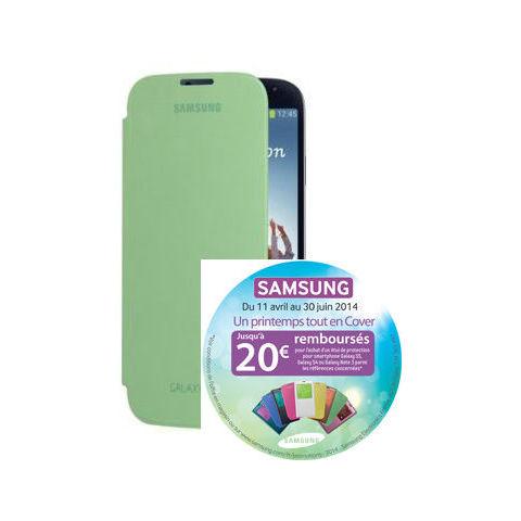 Etui Samsung Flip Cover pour Galaxy S4 gratuit (avec ODR) - Plusieurs coloris