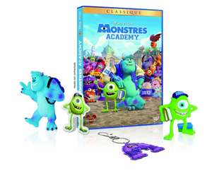 Monstres Academy - Edition exclusive Amazon.fr - 1 DVD + 1 magnet + 1 porte-clefs + 2 figurines : Sully + Bob