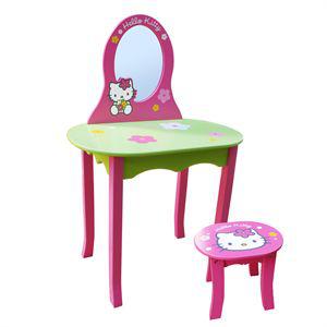 Coiffeuse avec Tabouret Hello Kitty