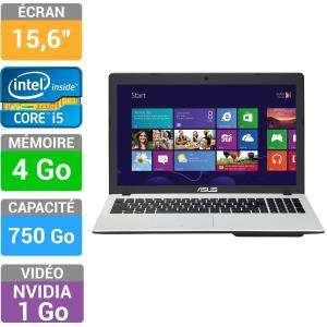 "PC Portable 15"" Asus F552CL-SX236H (Core i5-3337U, 4Go RAM, 750Go, GeForce GT710M 1Go)"