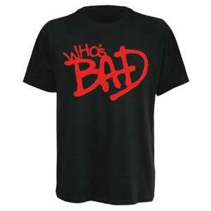 T-Shirt Michael Jackson Who's Bad (taille S)