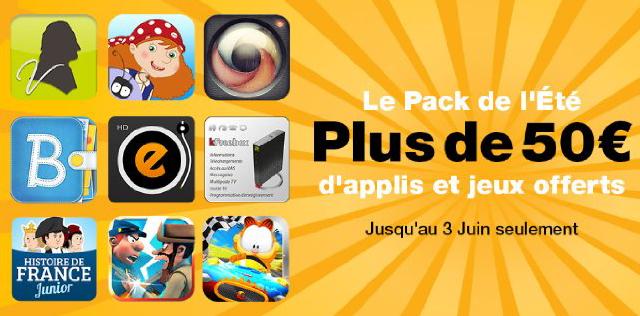 Pack de l'été : Plus de 50€ d'applis et jeux offerts sur Android