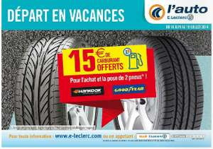 15€  de carburant offerts pour l'achat et la pause de 2 pneus marque Goodyear ou HanKooK
