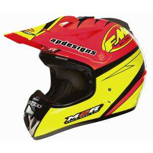 casque Cross x2.5 M2R FMF Replica Orange/Jaune