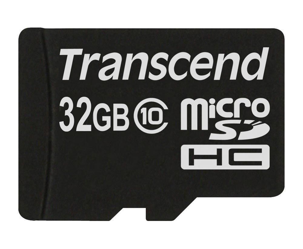 Carte mémoire 32Go microSDHC Transcend Classe 10