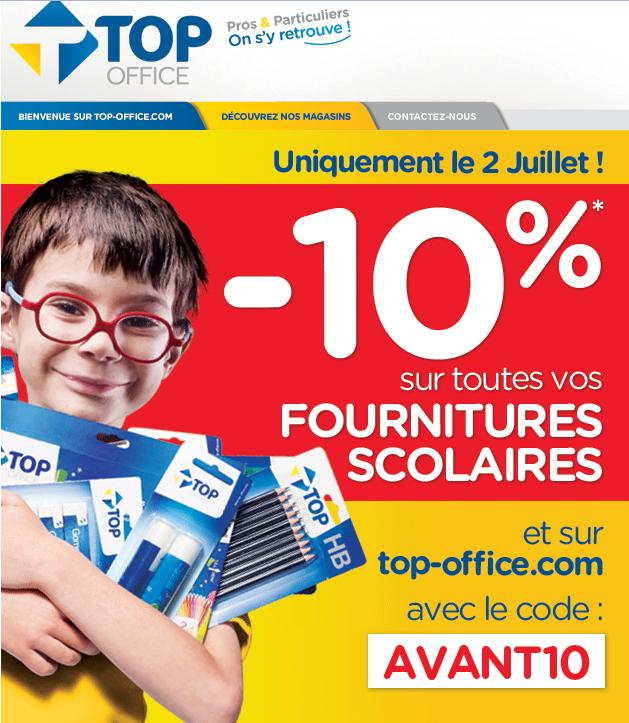 MAJ : 10% de réduction sur les fournitures scolaires Magasins & en ligne