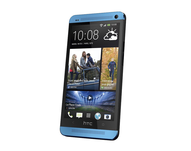 "Smartphone HTC One Bleu - 4G, écran 4,7"""