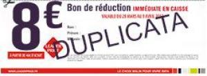 Leader Price Bon de réduction de 8€ (valable dès 50€ d'achats)