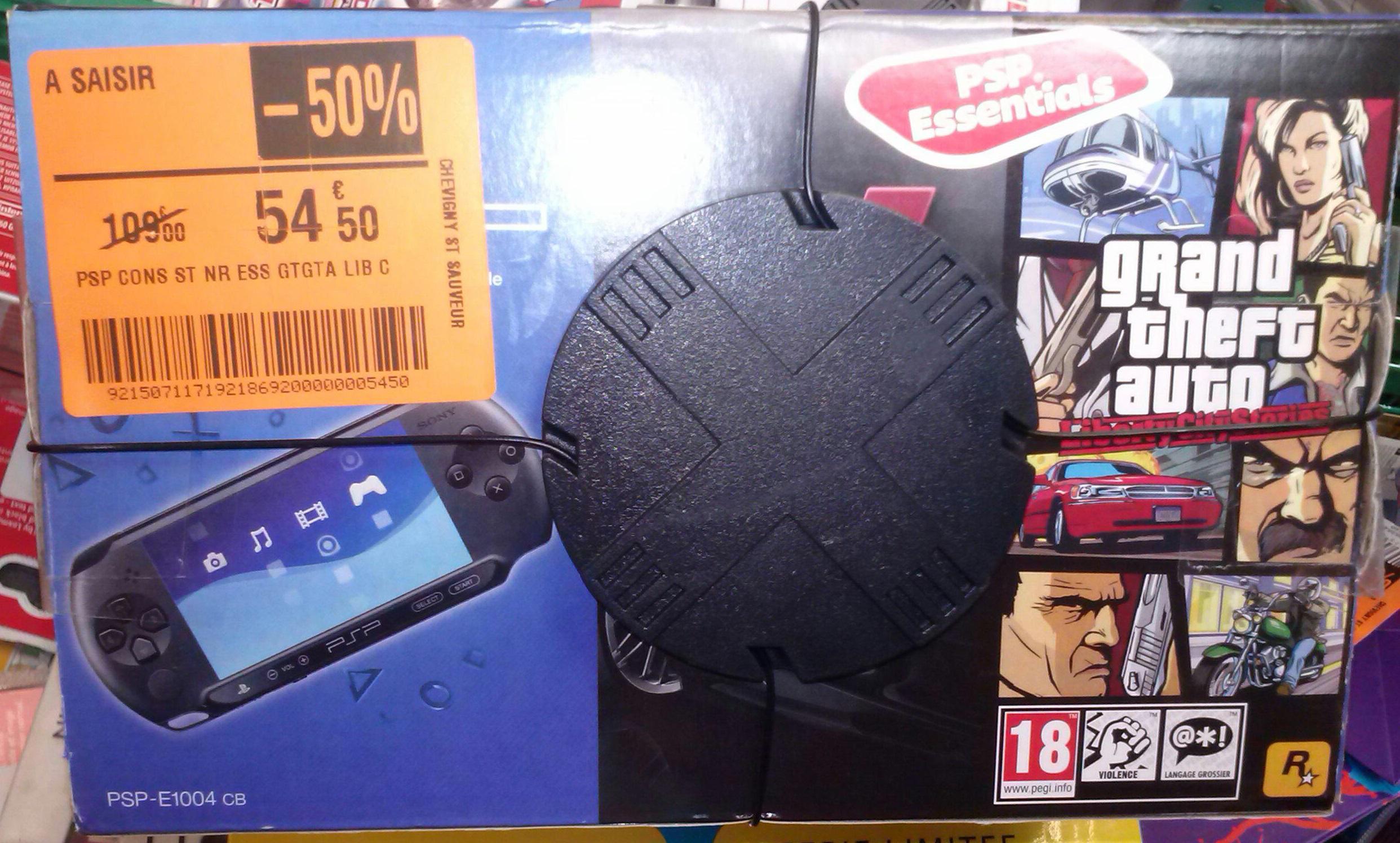 Console PSP Street + 2 jeux (2 choix possibles)