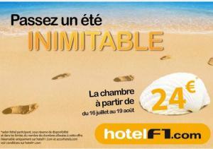 Jusqu'au 18 août, la nuit d'hôtel F1