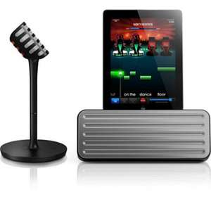 Station d'accueil Bluetooth Philips AEA7000/10  + Micro sans fil pour iPad avec application The Voice