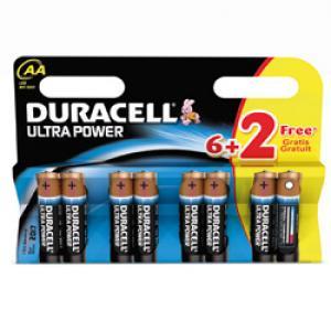 Piles Duracell Ultra Power 8 x AA 1.5V  avec PowerCheck (8 piles)