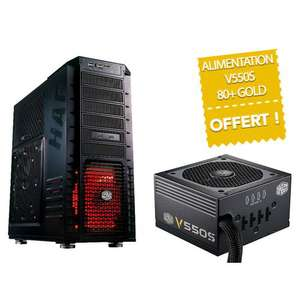 Boitier PC Cooler Master HAF932 Advanced + Alimentation CM V550S 80Plus Gold