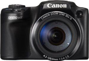 """Appareil Photo Numerique Canon SX510 HS 3"""", 12,1 Mpix, Zoom Optique 30x (50€ ODR)"""