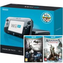 Console Wii U 32 Go + NintendoLand + Batman: Arkham City Armoured Edition + Assassin's Creed III
