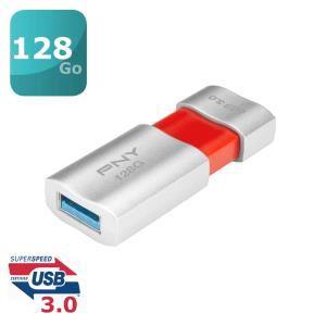 Clef USB 3.0 PNY Wave Attache 128 Go (80 Mo/s lecture, 20 Mo/s écriture) 49.04€ @ Amazon &