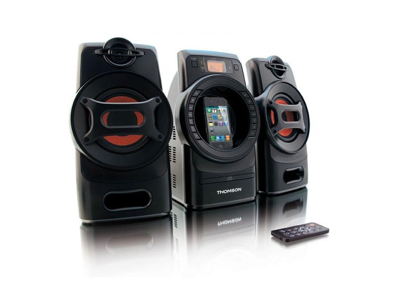 Micro chaine Thomson MIC215i - 2x20W - Lecteur CD/MP3/Radio FM/Dock iPod/iPhone