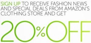 -20% sur votre commande de vêtements / chaussures / montres
