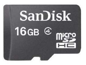 Carte micro SD SanDisk 16 Go classe 4