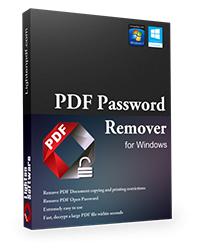Logiciel Lighten PDF Password Remover (suppression de mot de passe dans fichiers PDF) gratuit sur PC