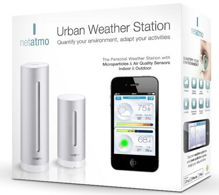 Station météo Netatmo pour appareils mobiles iOS et Android