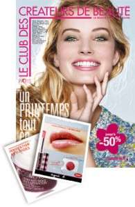 Catalogue gratuit Le Club des Créateur de Beauté et 2 échantillons
