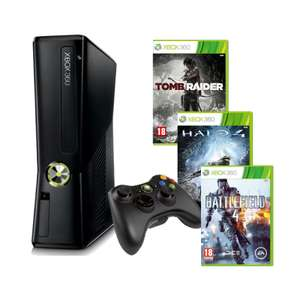 Packs Xbox 360 250 Go + Jeux (Ex : Battlefield 4 + Halo 4 + Tomb Raider)