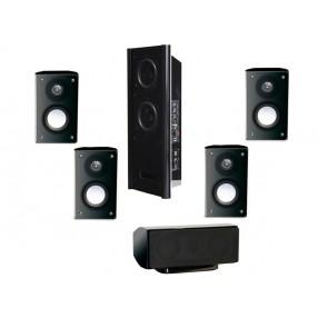 Pack d'enceintes Home-Cinéma 5.1 Advance Ezy 500 + Caisson actif - Noir ou blanc