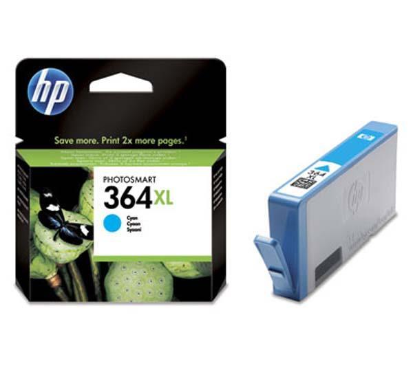 Cartouche d'encre HP 364XL - Cyan