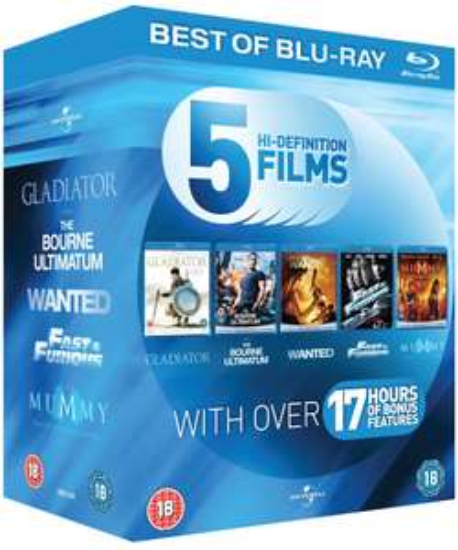 Coffret Blu-ray Action Starter Pack (5 Films)