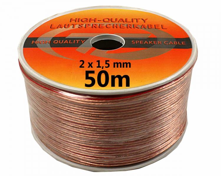 Bobine de 50 / 100 mètres de câble audio Hi-Fi 2x 1,5 / 2,5 mm (4 deals)