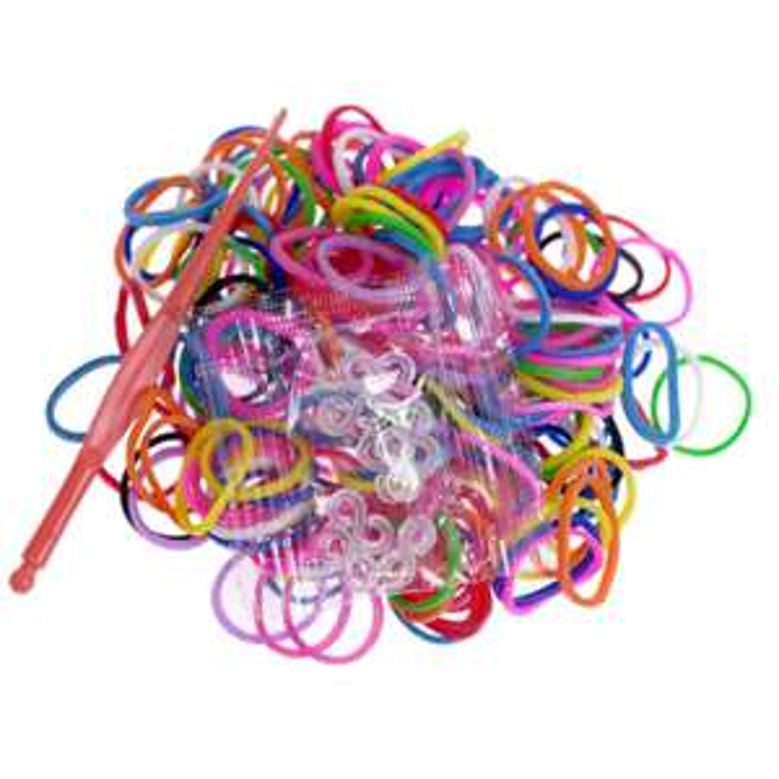 200 élastiques Colorful loom bands, couleurs assorties