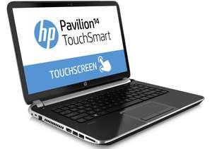 "PC Portable 14"" HP Pavilion TouchSmart 14-n204sf tactile : Core i7 Haswell, HD8670M + ODR 100€"