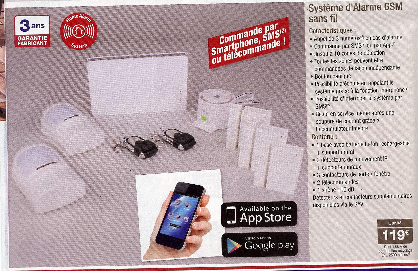 Système d'alarme GSM sans fil