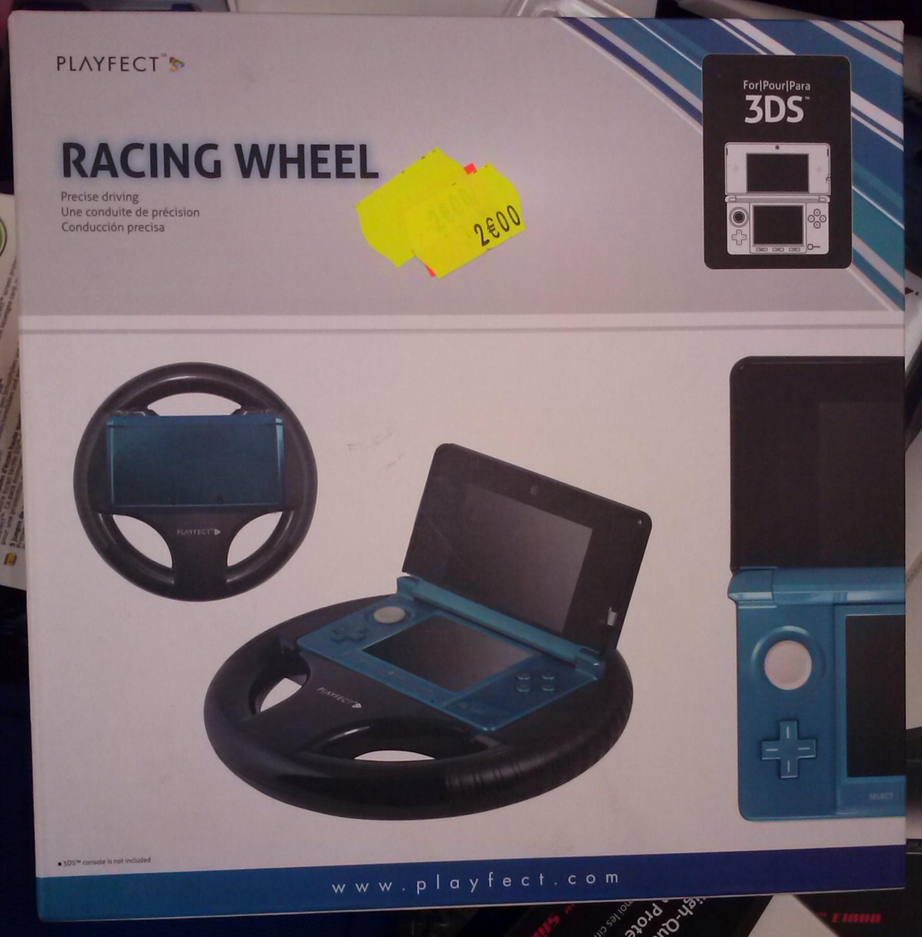 Volant Racing Wheel pour console Nintendo 3DS