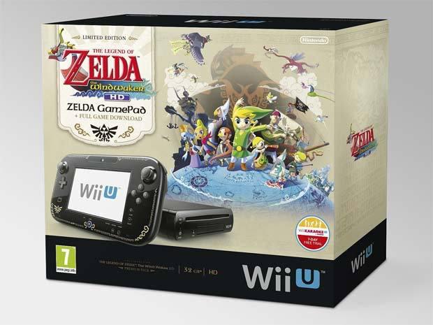 "Pack premium Console Wii U 32 Go ""The Legend of Zelda : Wind Waker HD"" - Edition limitée / Pack Wii U 8 Go  + Wii Party U"