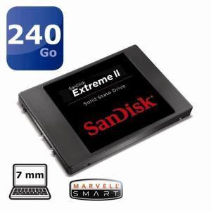 """Disque SSD SanDisk 240 Go Extreme II 2.5"""" (+50€ offerts en bon d'achats)"""