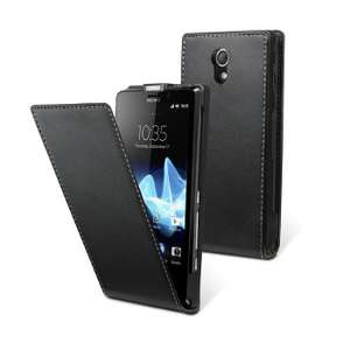 Sélection d'étuis, housses en soldes - Ex : uvit Etui à rabat noir - Sony Xperia T
