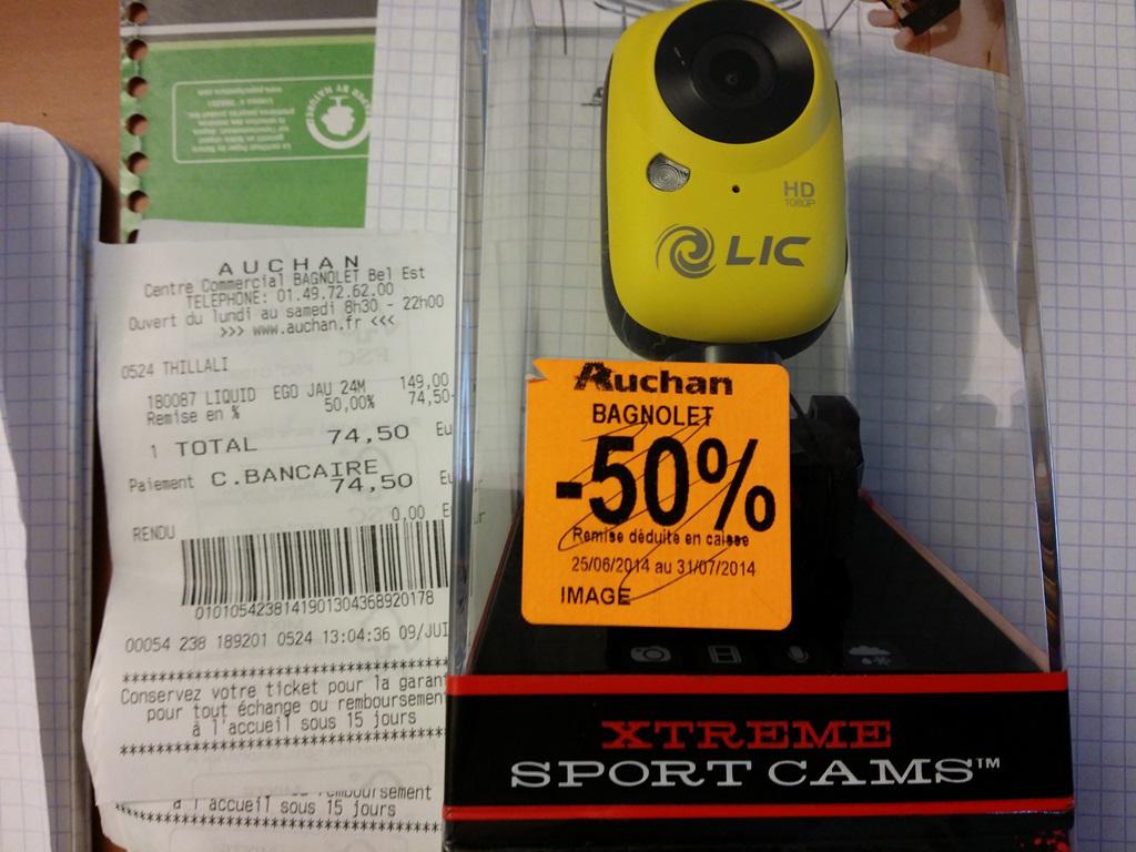 Caméra Liquid Ego 727 - CAM de sport wifi