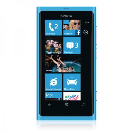 Smartphone Nokia Lumia 800 Bleu Cyan
