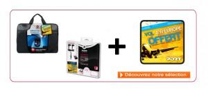 """Sacoche Netbook 10 à 12 """" + souris + billet d'avion offert"""