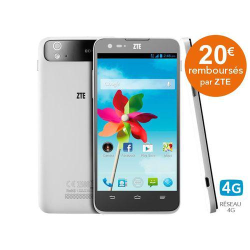 "Smartphone 5"" ZTE Grand S Flex 4G HD 16 Go (Apres ODR 20€)"