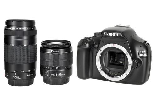 Appareil Réflex Canon 1100D + Canon 18-55mm + Canon 75-300mm