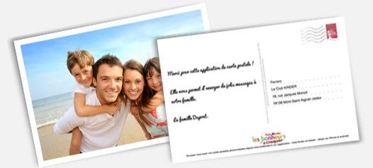 4 Cartes postales personnalisées gratuites