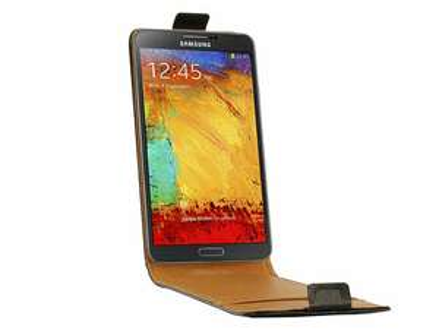 Etui cuir véritable Swiss Charger pour Samsung Galaxy Note 3 - Noir