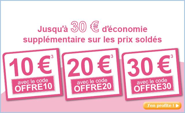 -10€ dès 100€ d'achat, -20€ dès 200€, -30€ dès 300€