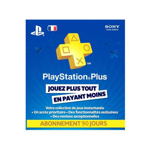 Carte PlayStation Plus 90 jours