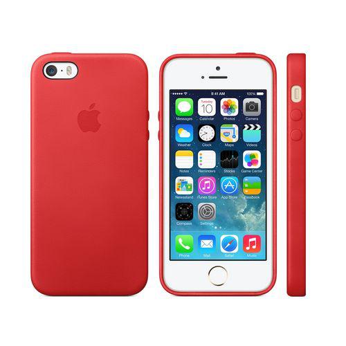 coque officielle (EN CUIR D'ANILINE) iPhone 5s Case rouge