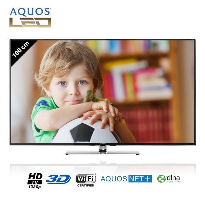 """TV LED 42"""" Sharp LC-42LE761E  - Smart TV, 3D, Full HD + 4 lunettes"""
